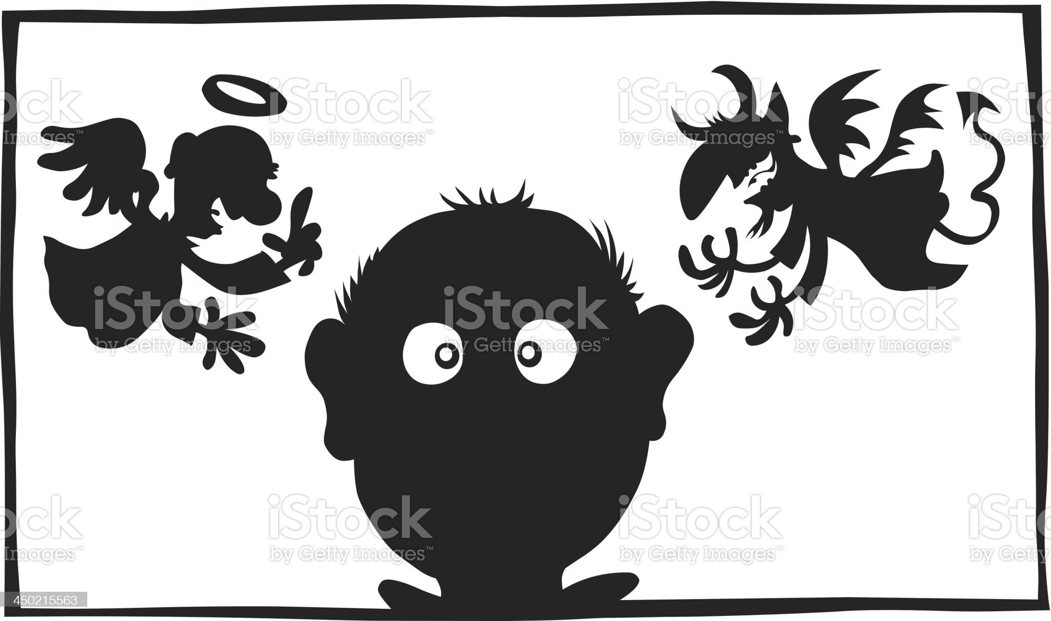 Good and Evil. royalty-free stock vector art