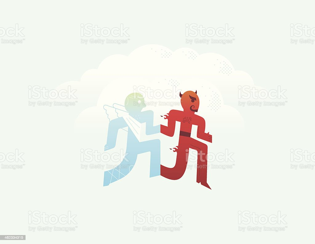 Good and Evil royalty-free stock vector art