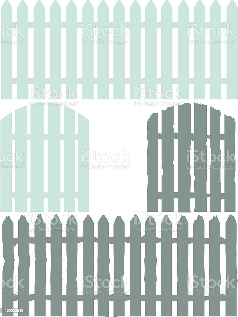 Good /Bad Fence vector art illustration