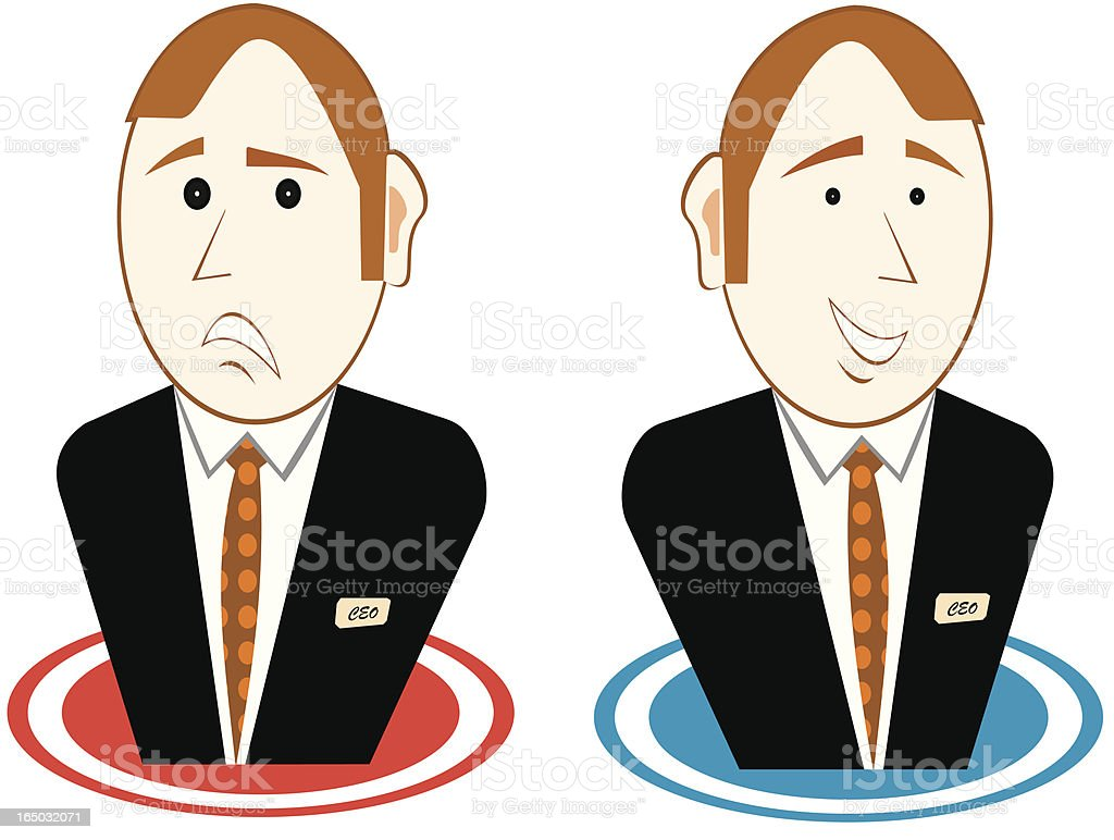 Good & Bad Results royalty-free stock vector art