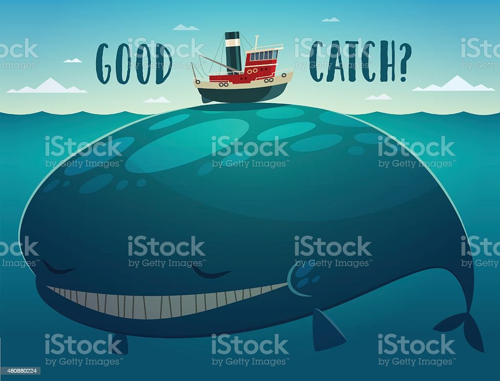 Good catch vector art illustration
