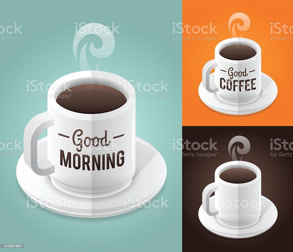 Good Coffee vector art illustration