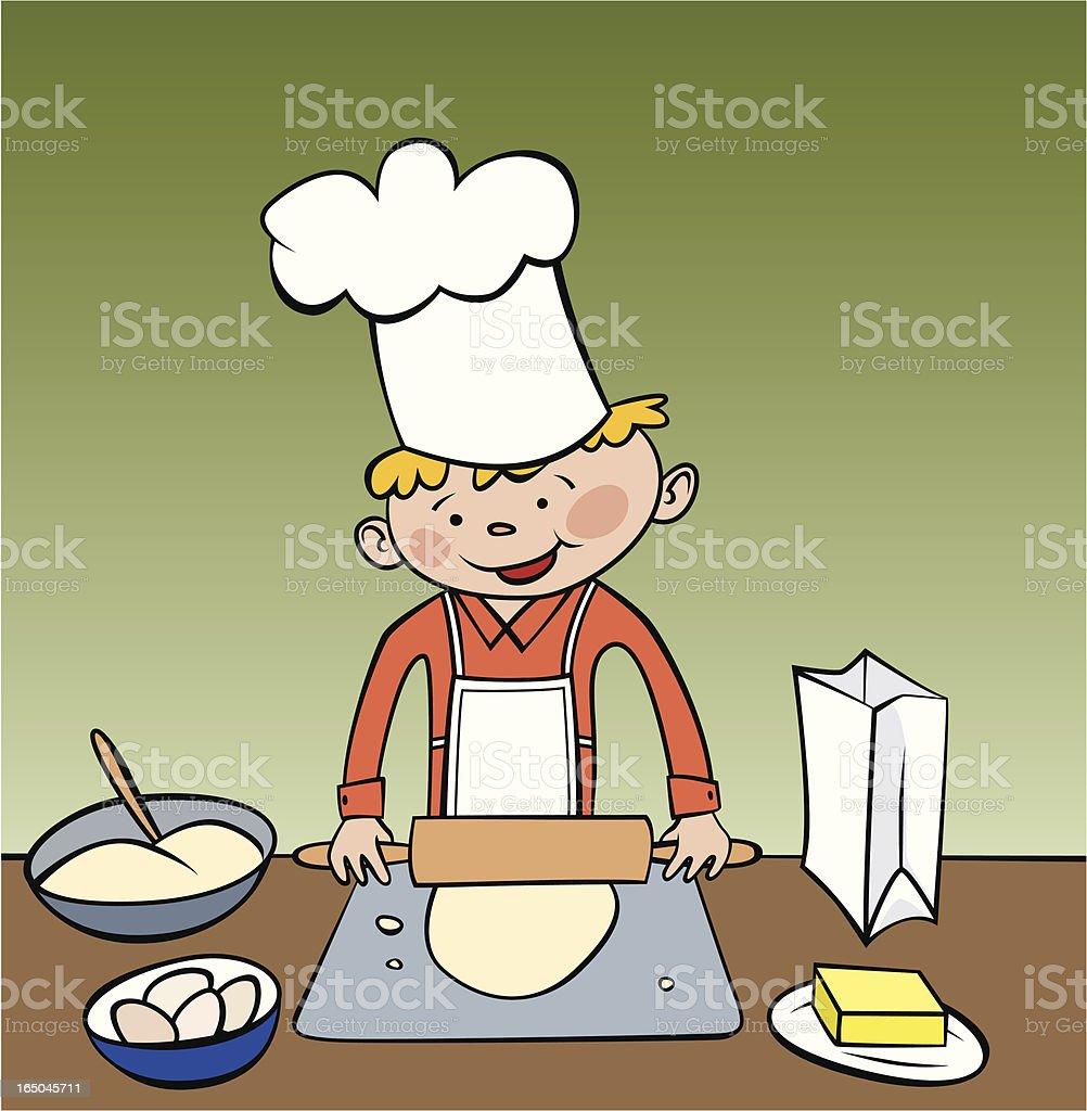 Good Cook vector art illustration