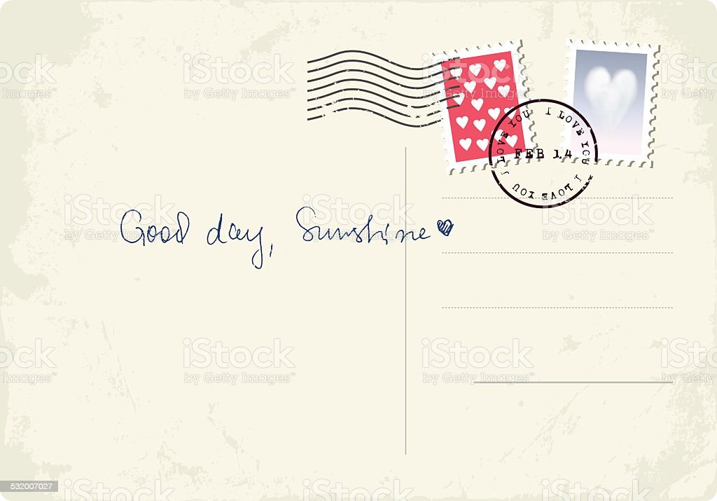 'Good day, Sunshine' postcard vector art illustration