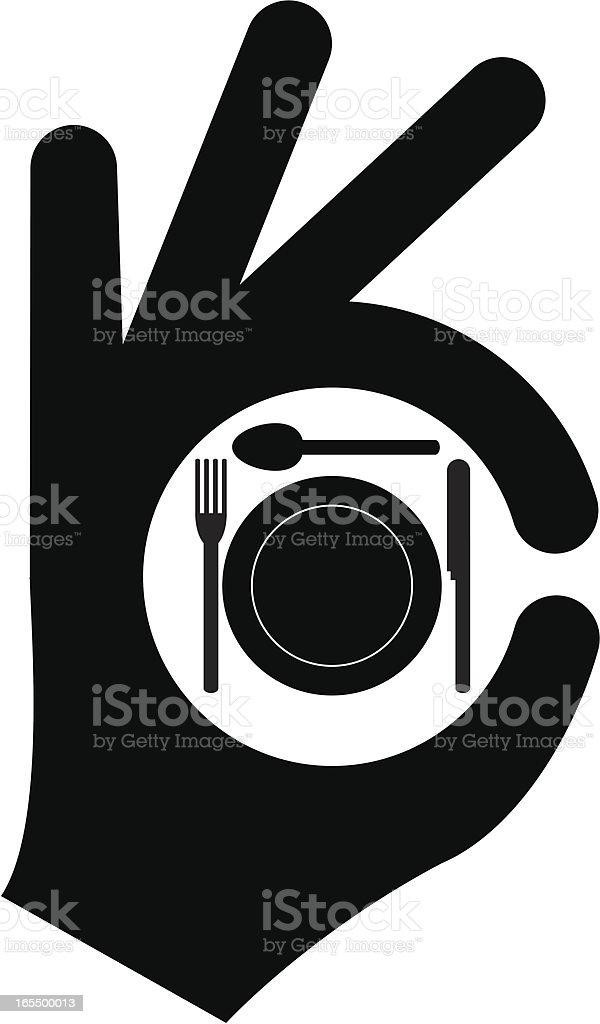 Good food vector art illustration