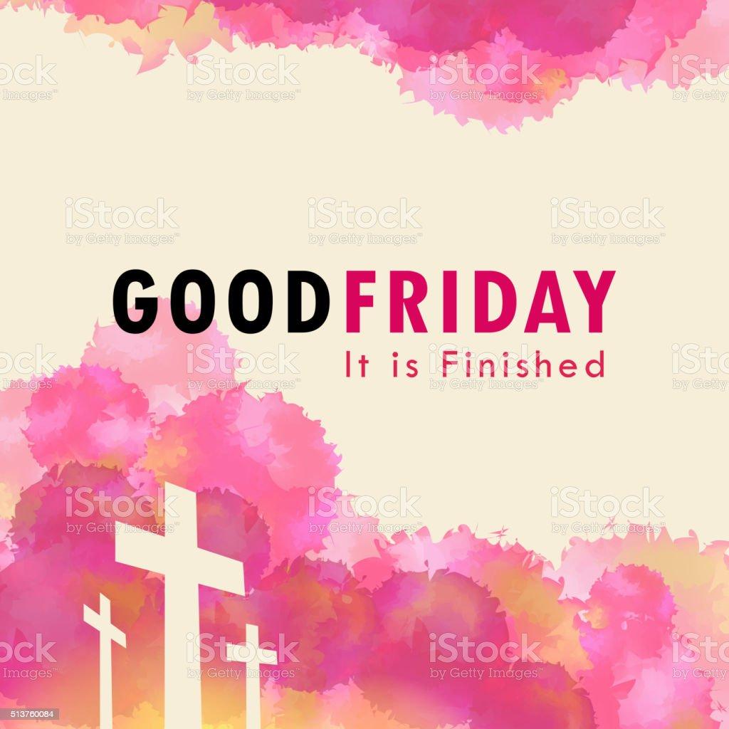 Good Friday vector art illustration