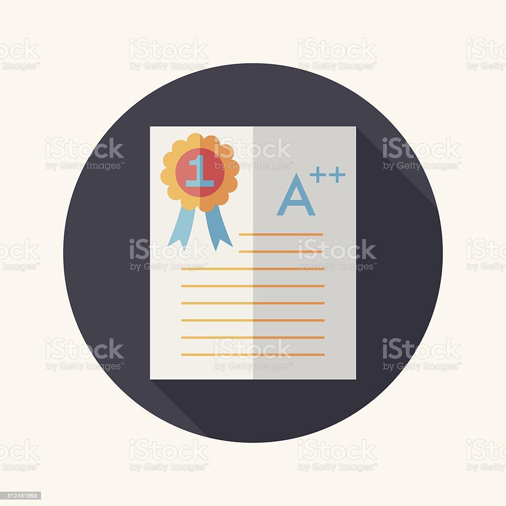 good grade in examflat icon long shadoweps10 stock vector art 1 credit