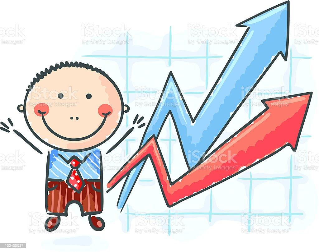 Good graph royalty-free stock vector art