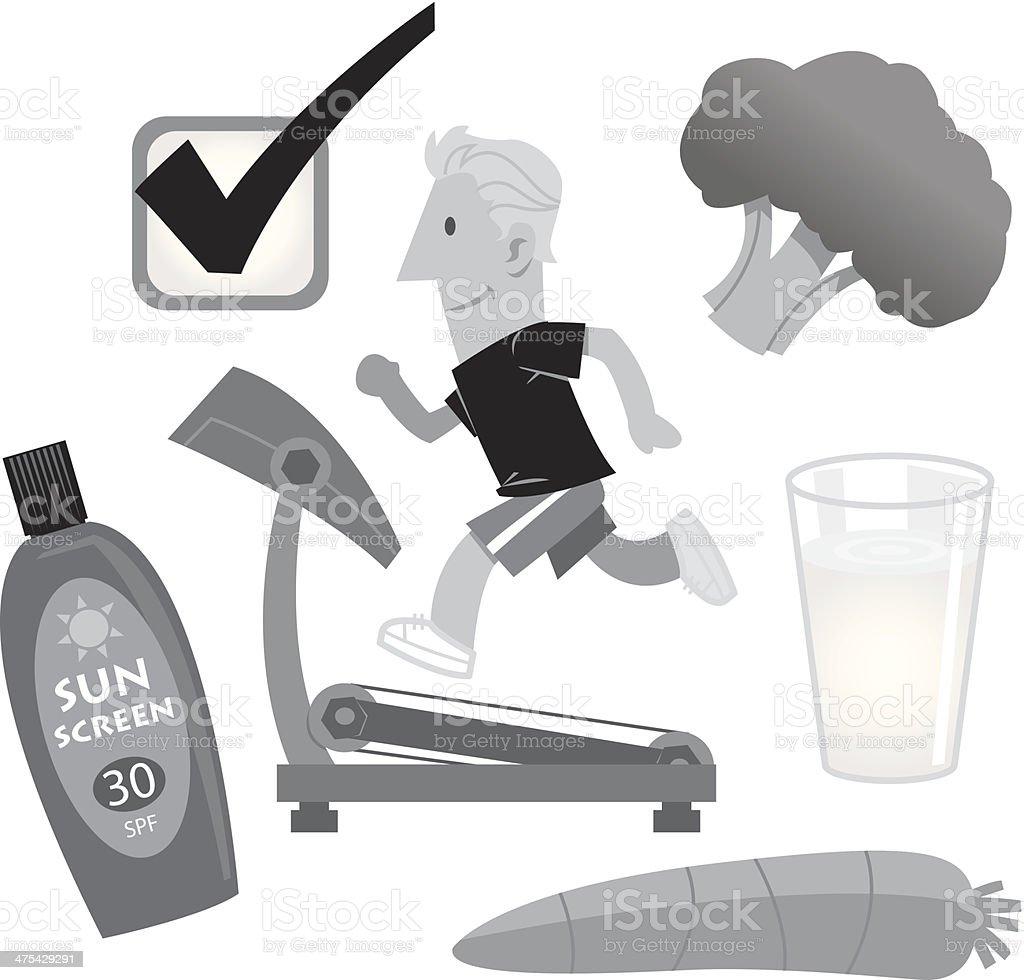 Good Health Items royalty-free stock vector art