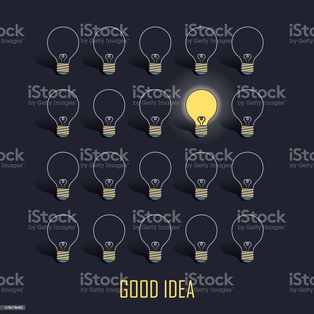 good idea concept vector art illustration