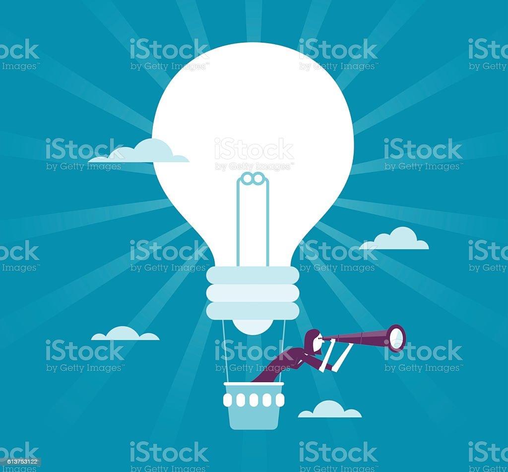 Good Idea vector art illustration
