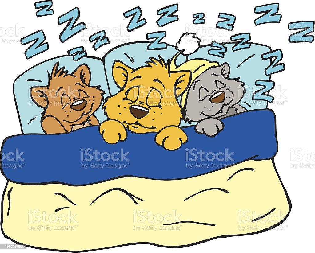 Good Kitty's Sleep Tight! royalty-free stock vector art