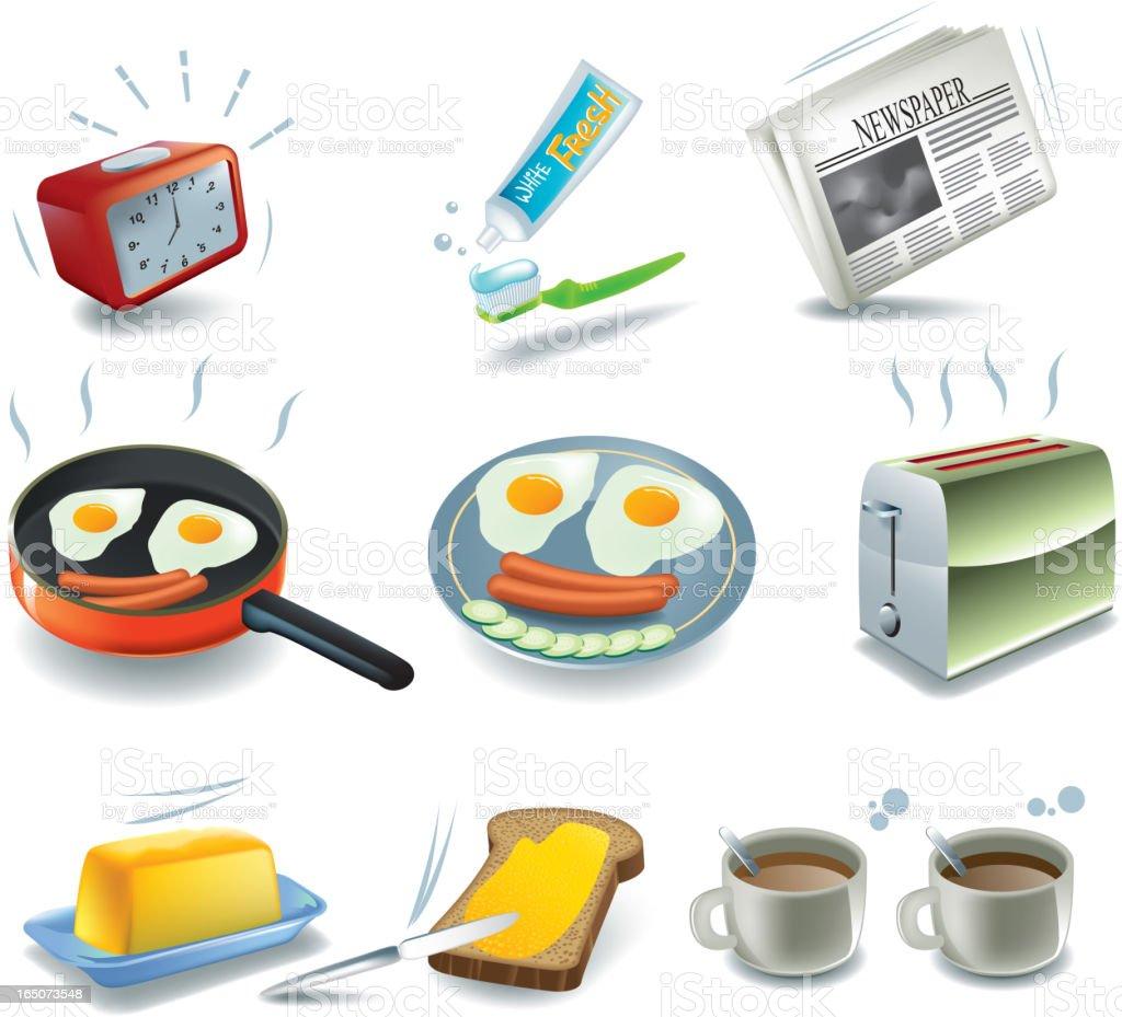 Good morning, breakfast royalty-free stock vector art