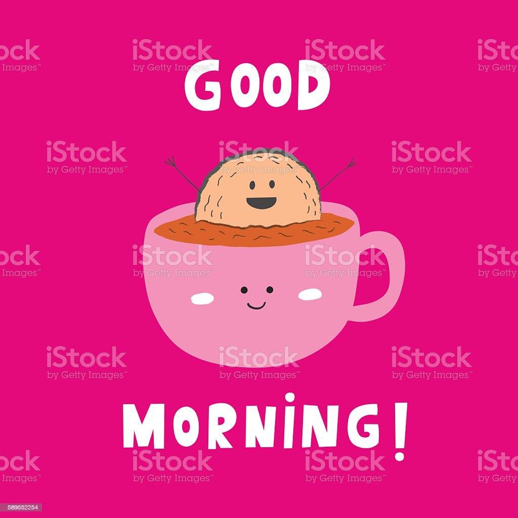 Good Morning card vector art illustration