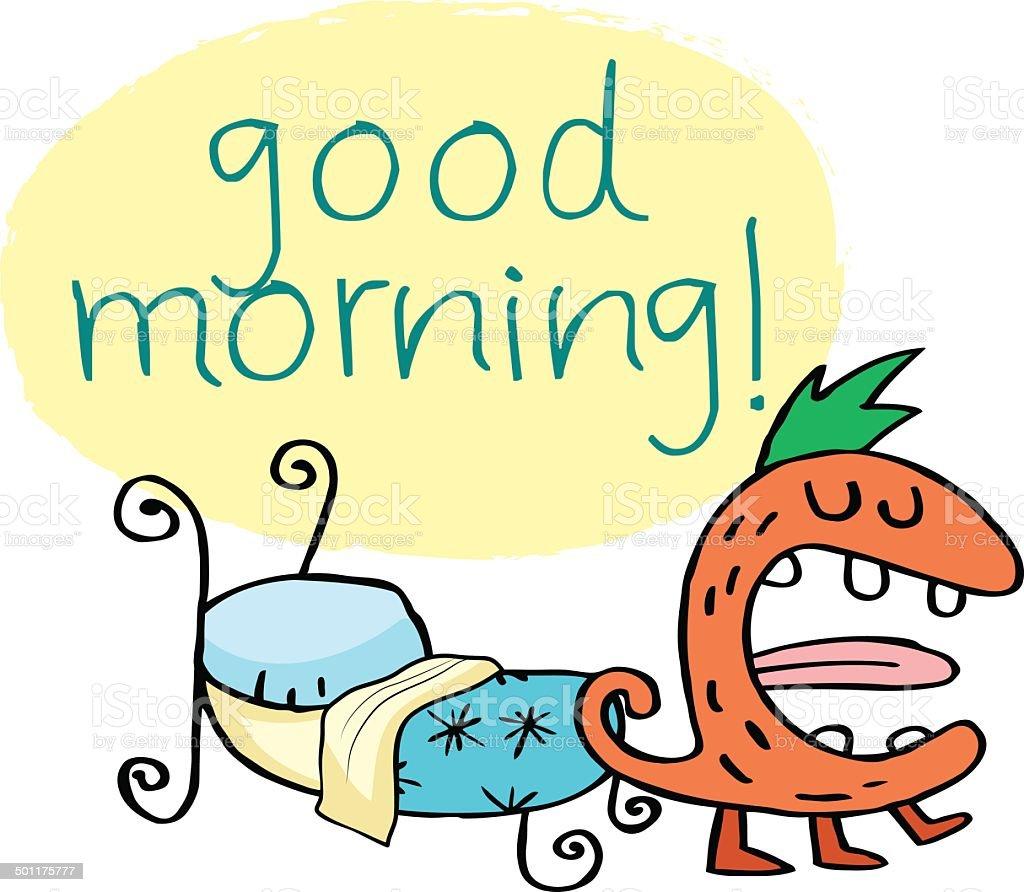 Good Morning Monster royalty-free stock vector art