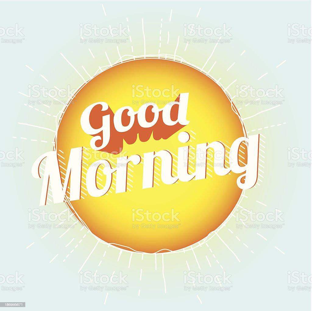 Good Morning royalty-free stock vector art