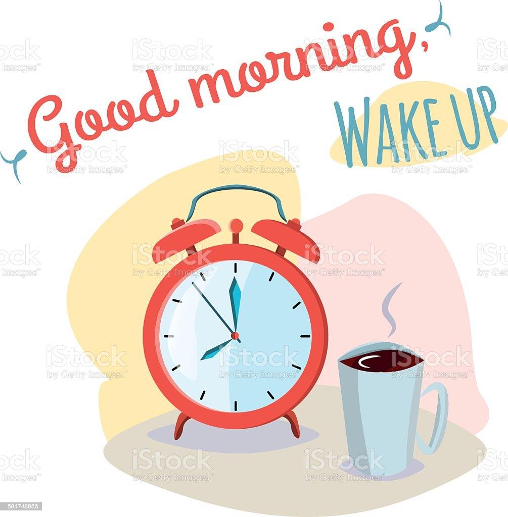 Good morning wake up stock vecteur libres de droits libre de droits