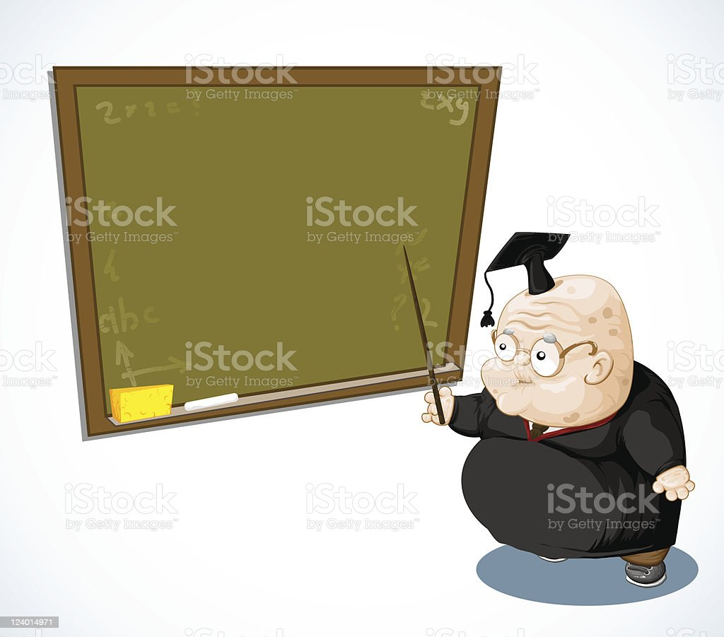 Good old scientist. royalty-free stock vector art