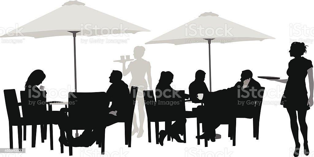 Good Service Vector Silhouette royalty-free stock vector art