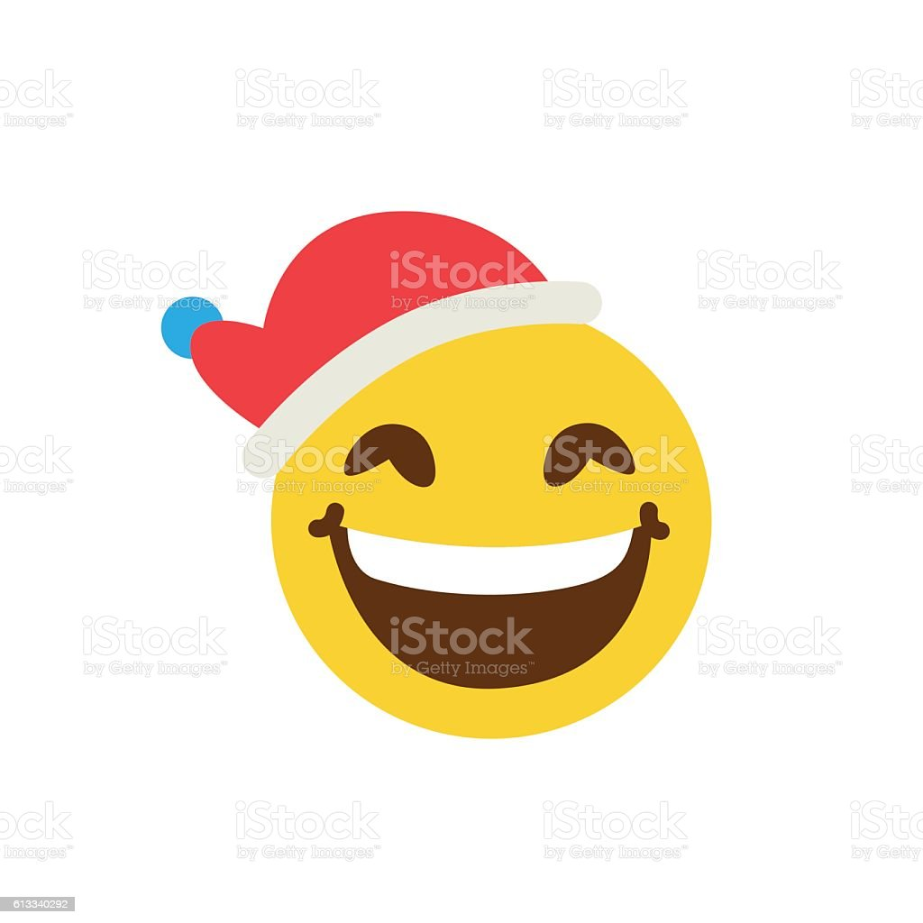 Good smiley in a cap vector art illustration
