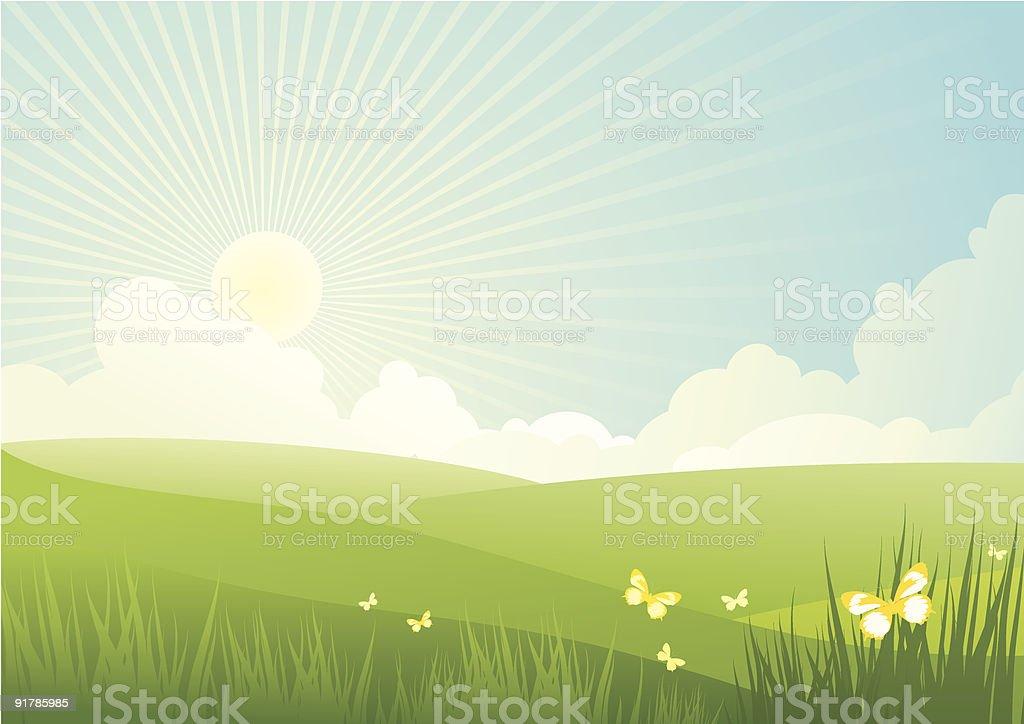 good sunny day royalty-free stock vector art