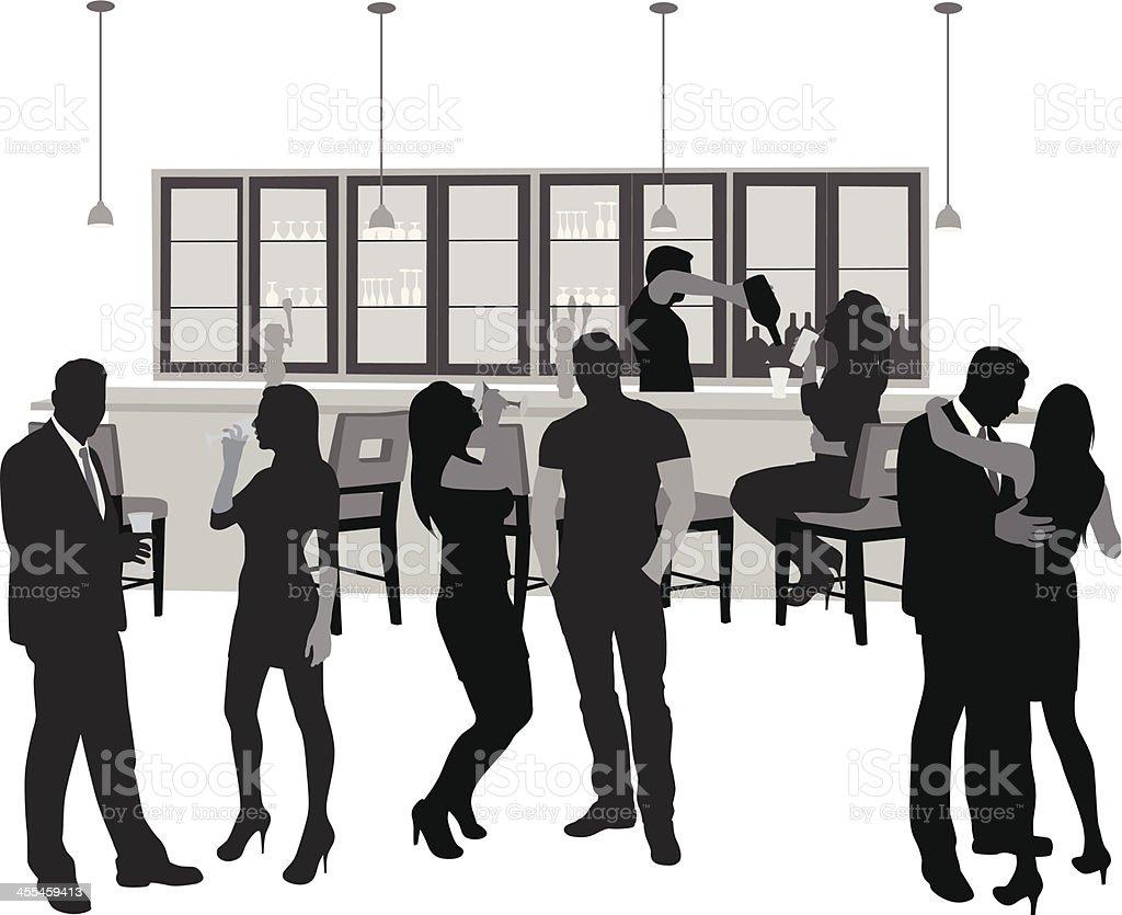 Good Times Vector Silhouette vector art illustration