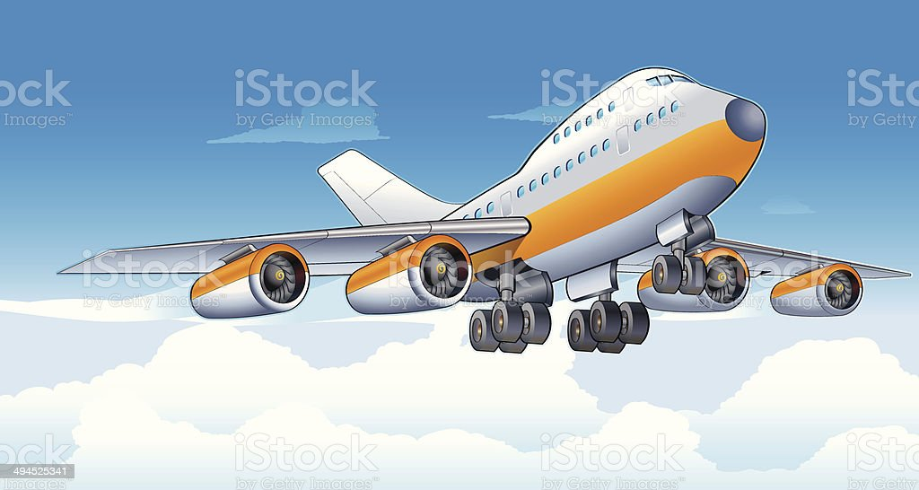 Bon voyage vector art illustration