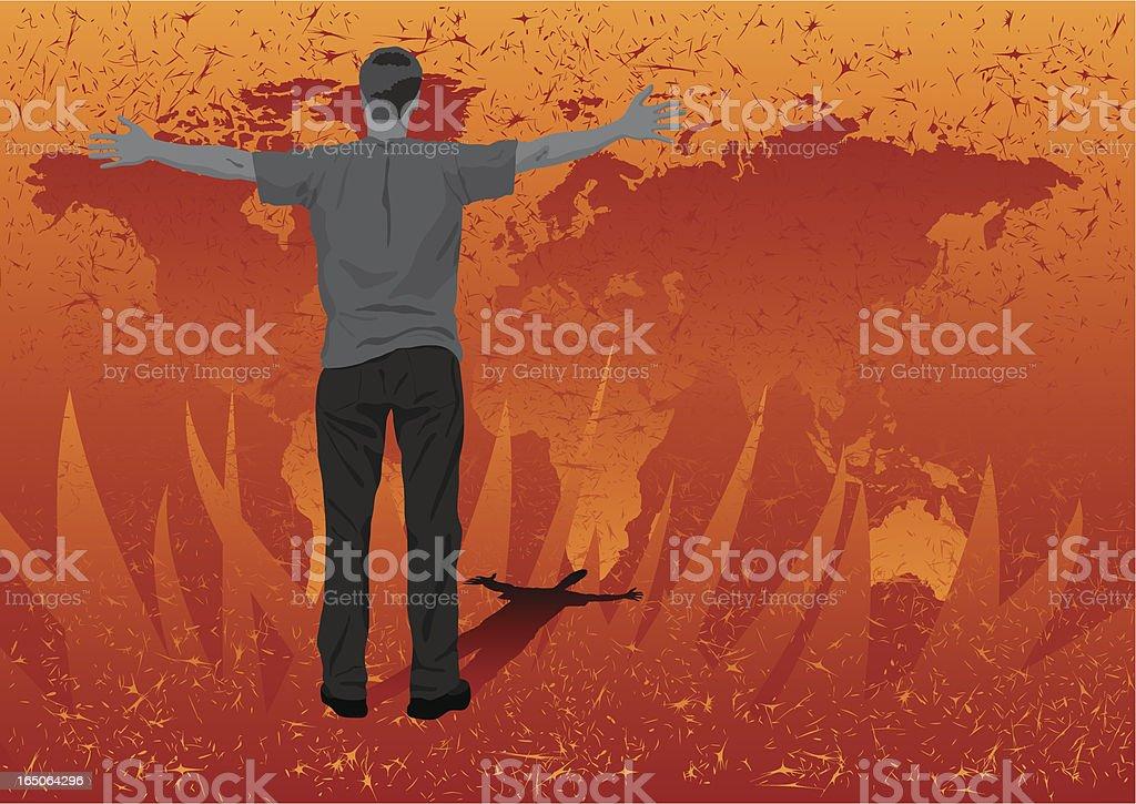 Goodbye Earth royalty-free stock vector art