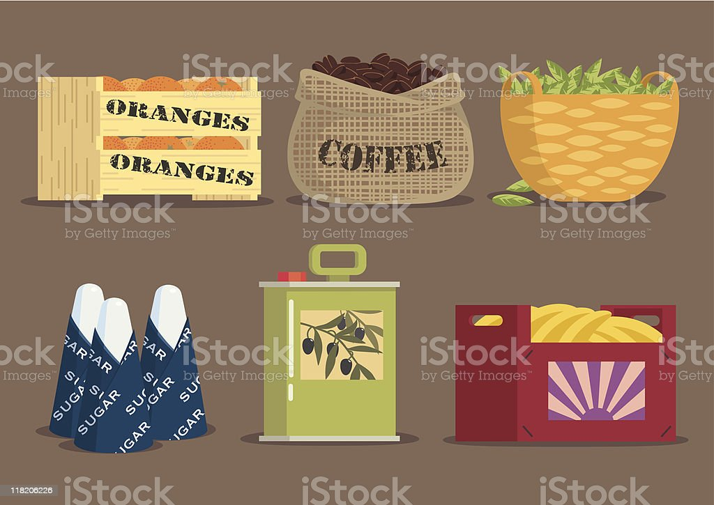 Goods from the South. vector art illustration