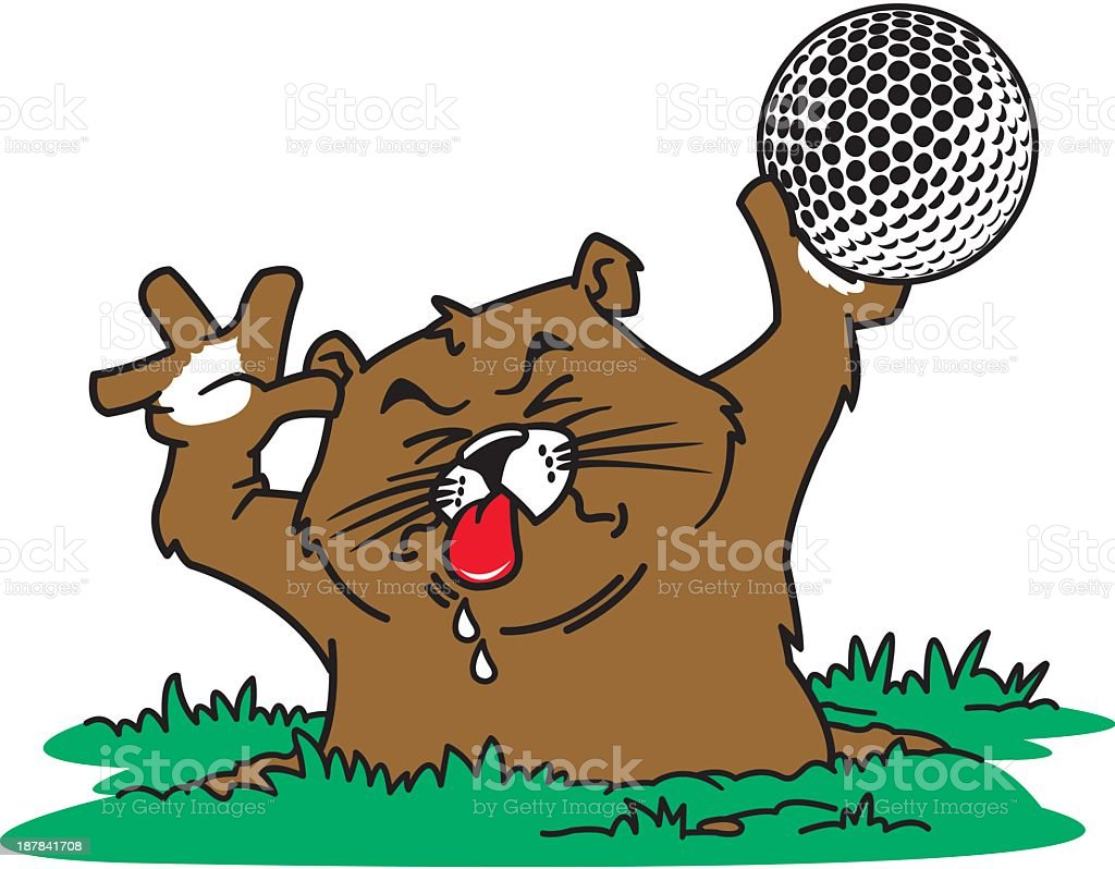 Gopher with Golf Ball royalty-free stock vector art