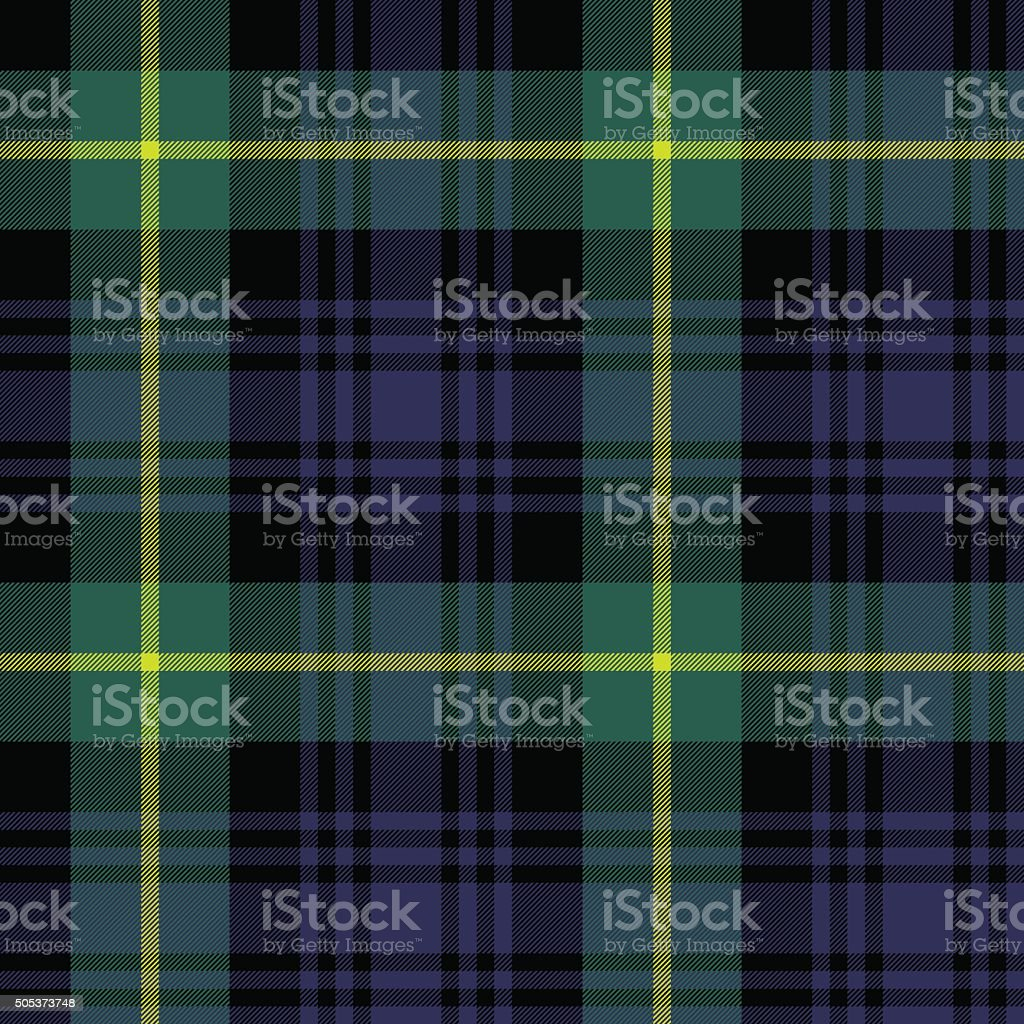 gordon tartan fabric texture plaid pattern seamless vector art illustration