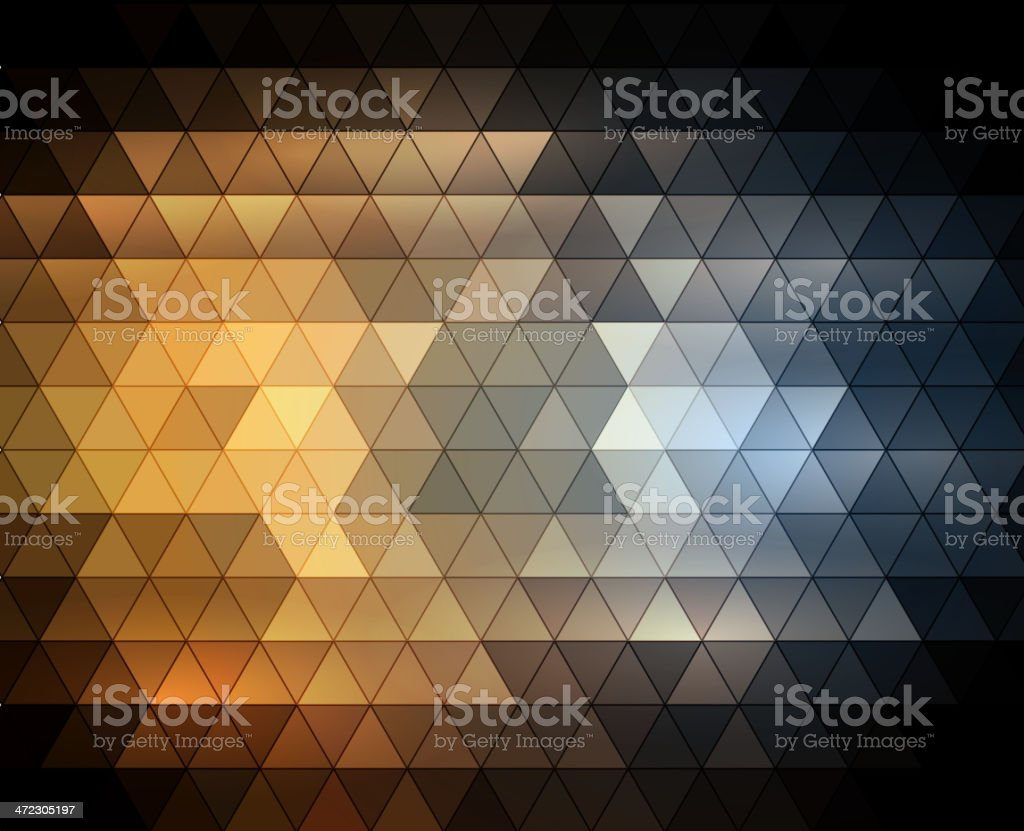 Gorgeous abstract mosaic background in gold and silver royalty-free stock vector art