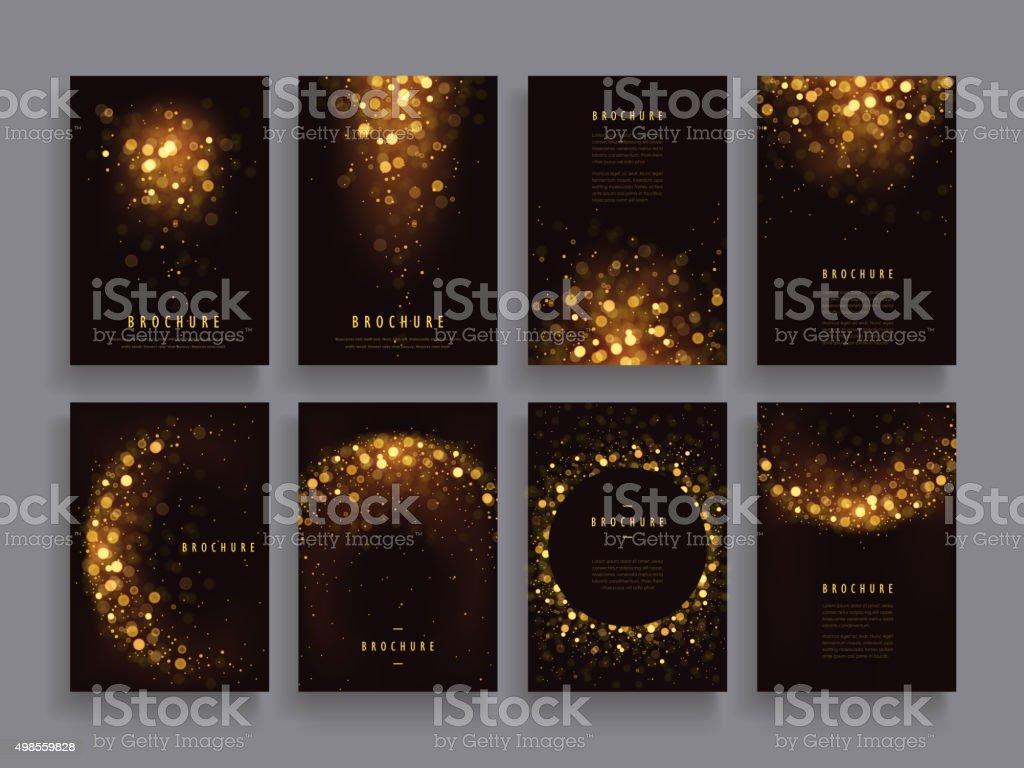 gorgeous brochure template vector art illustration