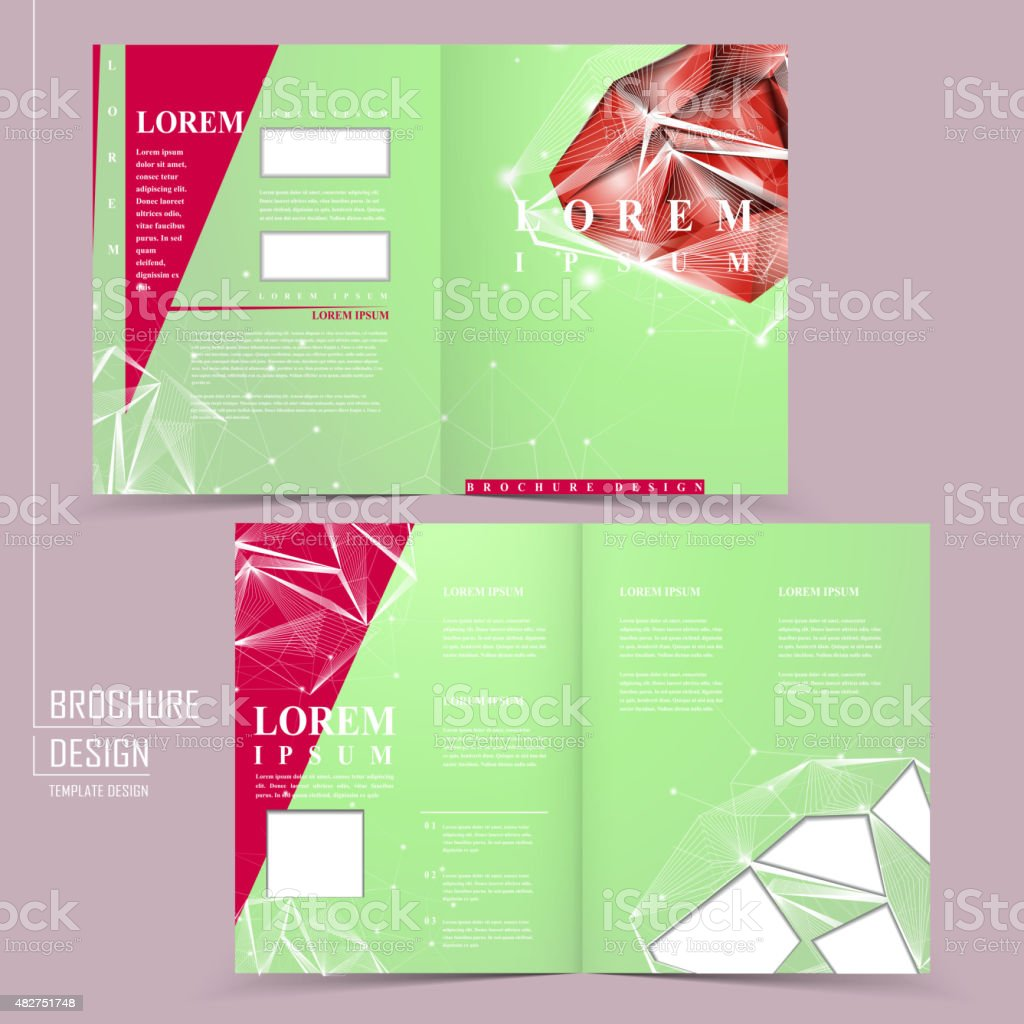 gorgeous half-fold template design vector art illustration