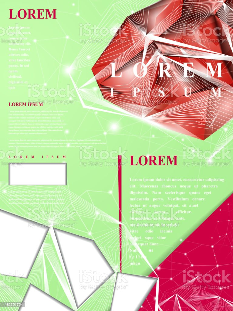 gorgeous poster template design vector art illustration