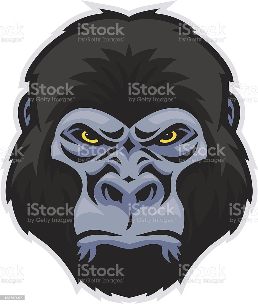 Gorilla Head royalty-free stock vector art