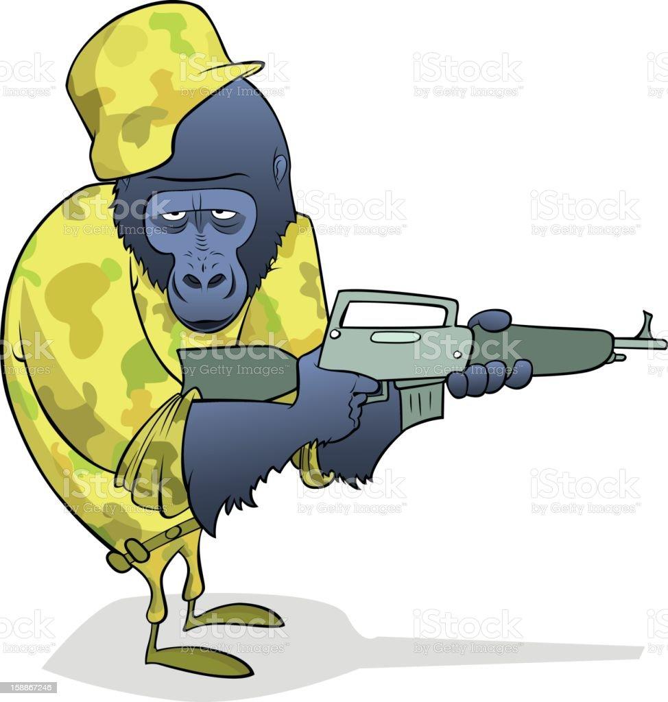 Gorilla Soldier royalty-free stock photo