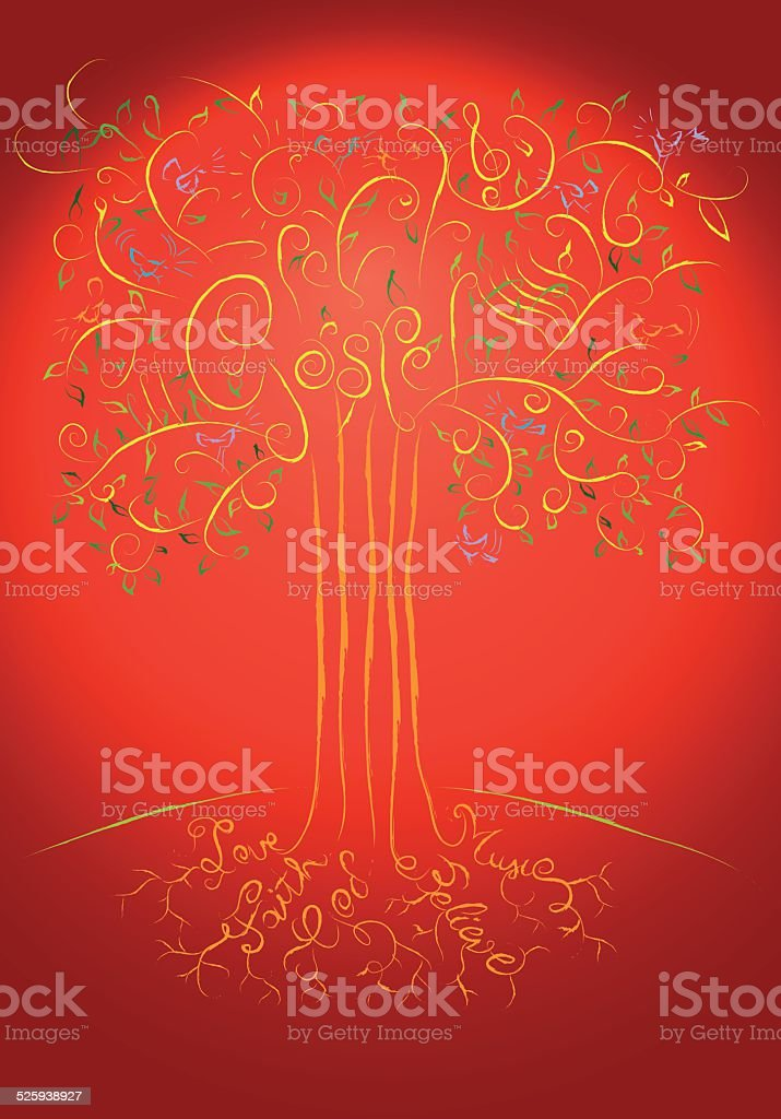 Gospel tree vector art illustration