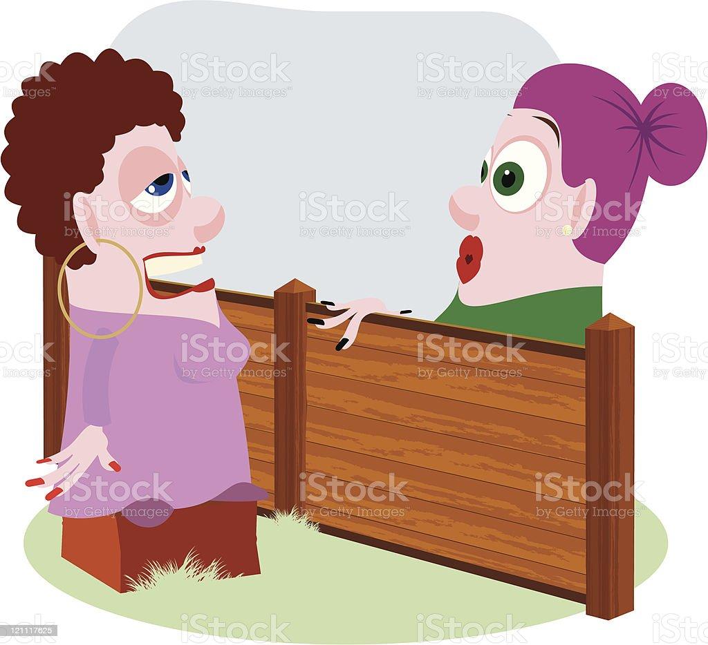 Gossiping Women royalty-free stock vector art