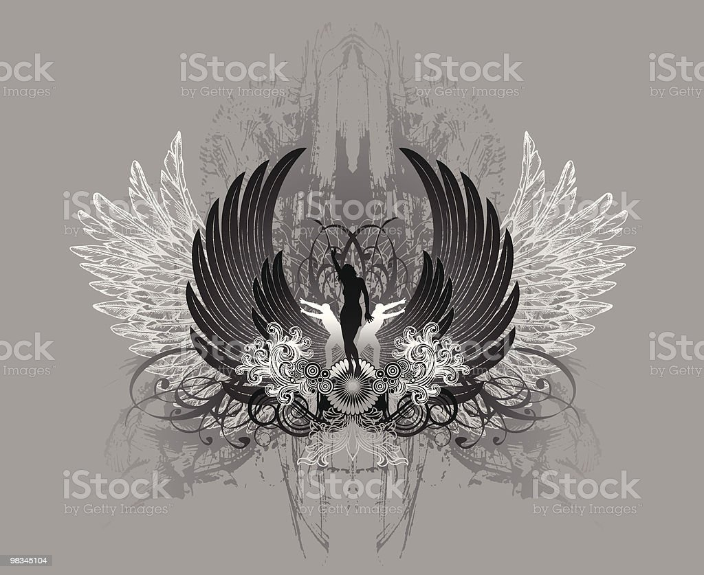 Goth Queen royalty-free stock vector art