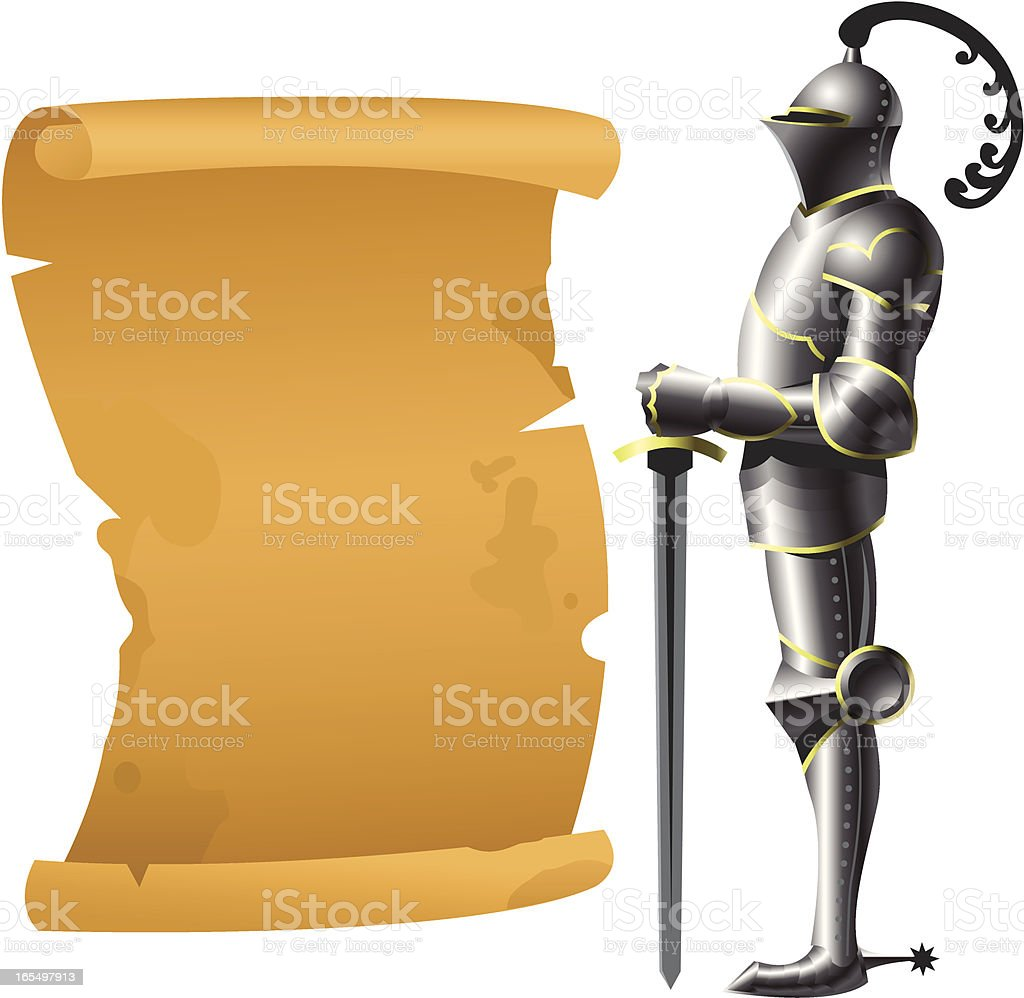 Gothic Armor royalty-free stock vector art