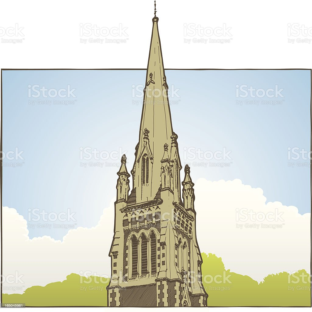 Gothic Church royalty-free stock vector art