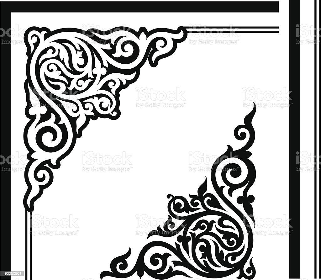 Gothic Corner Design royalty-free stock vector art