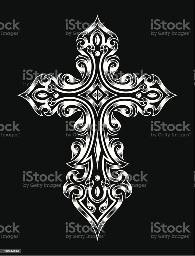 Gothic Cross royalty-free stock vector art