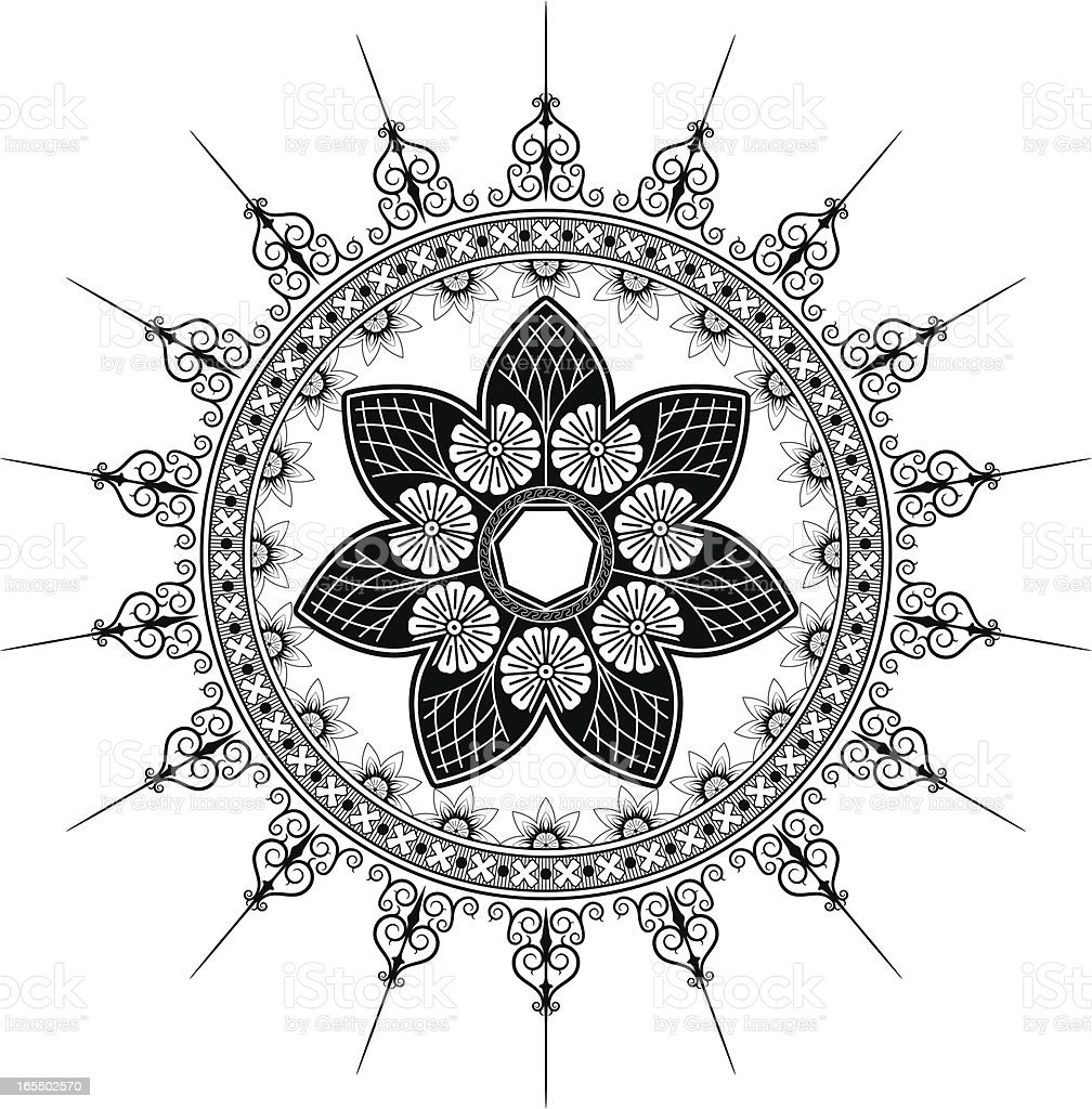 Gothic Flourish vector art illustration