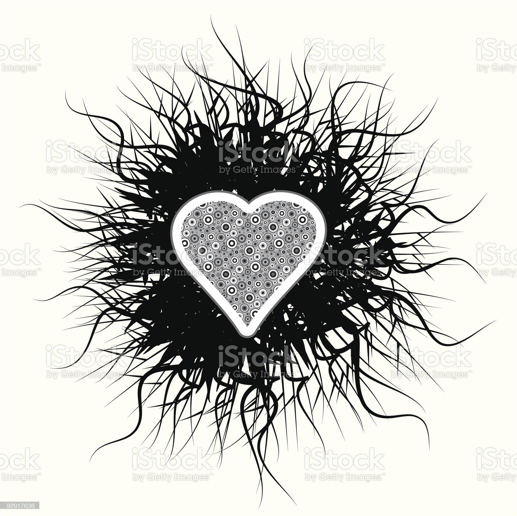 Gothic love heart (vector & jpeg) royalty-free stock vector art