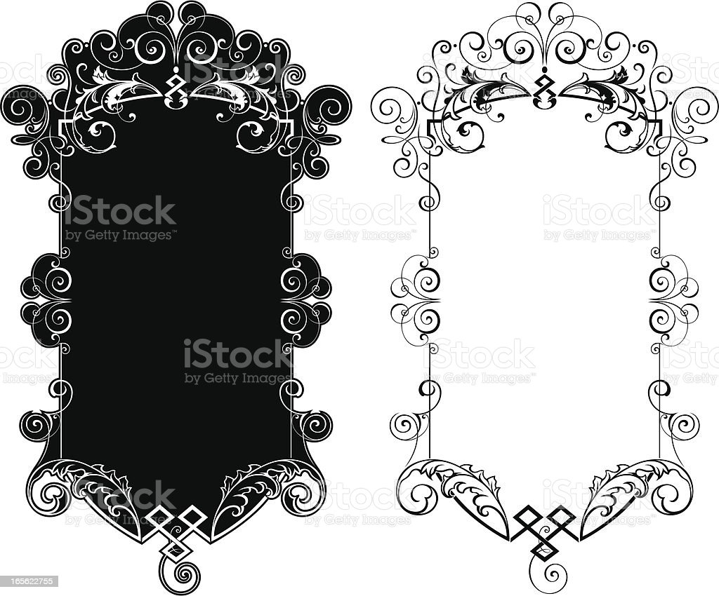 Gothic Panel royalty-free stock vector art