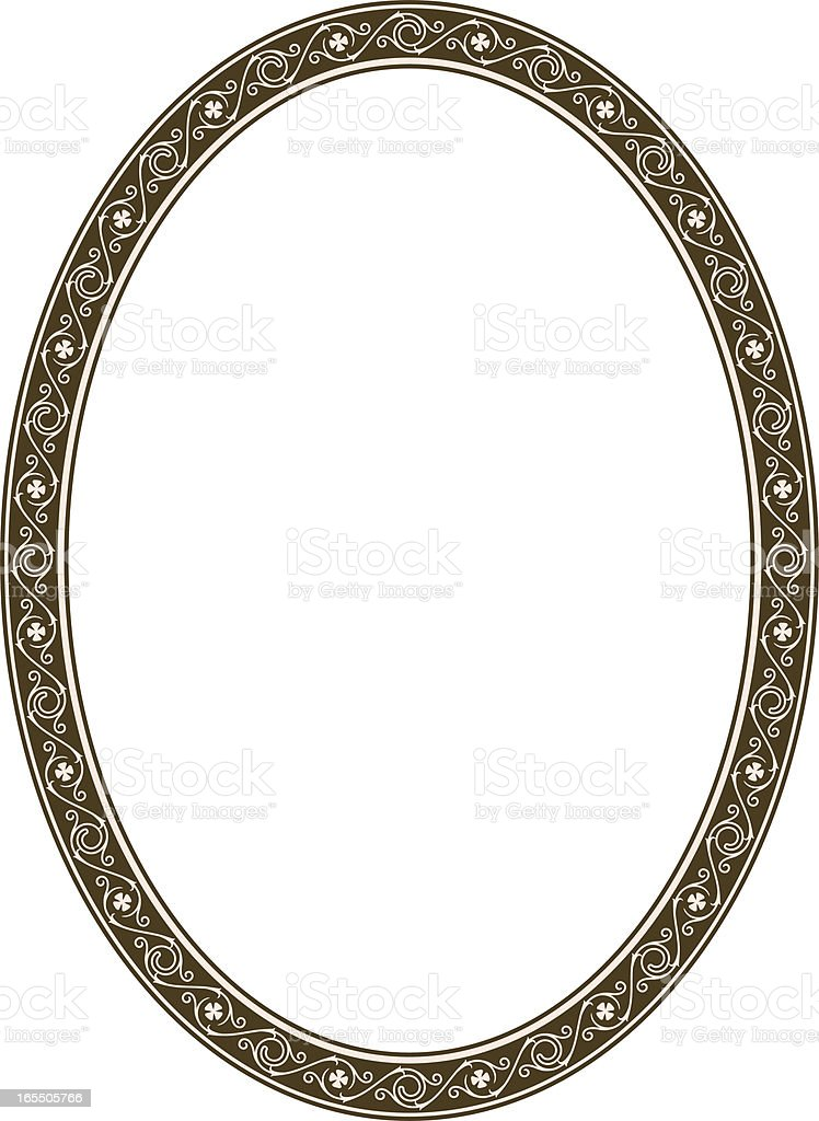 Gothic Scroll Frame royalty-free stock vector art