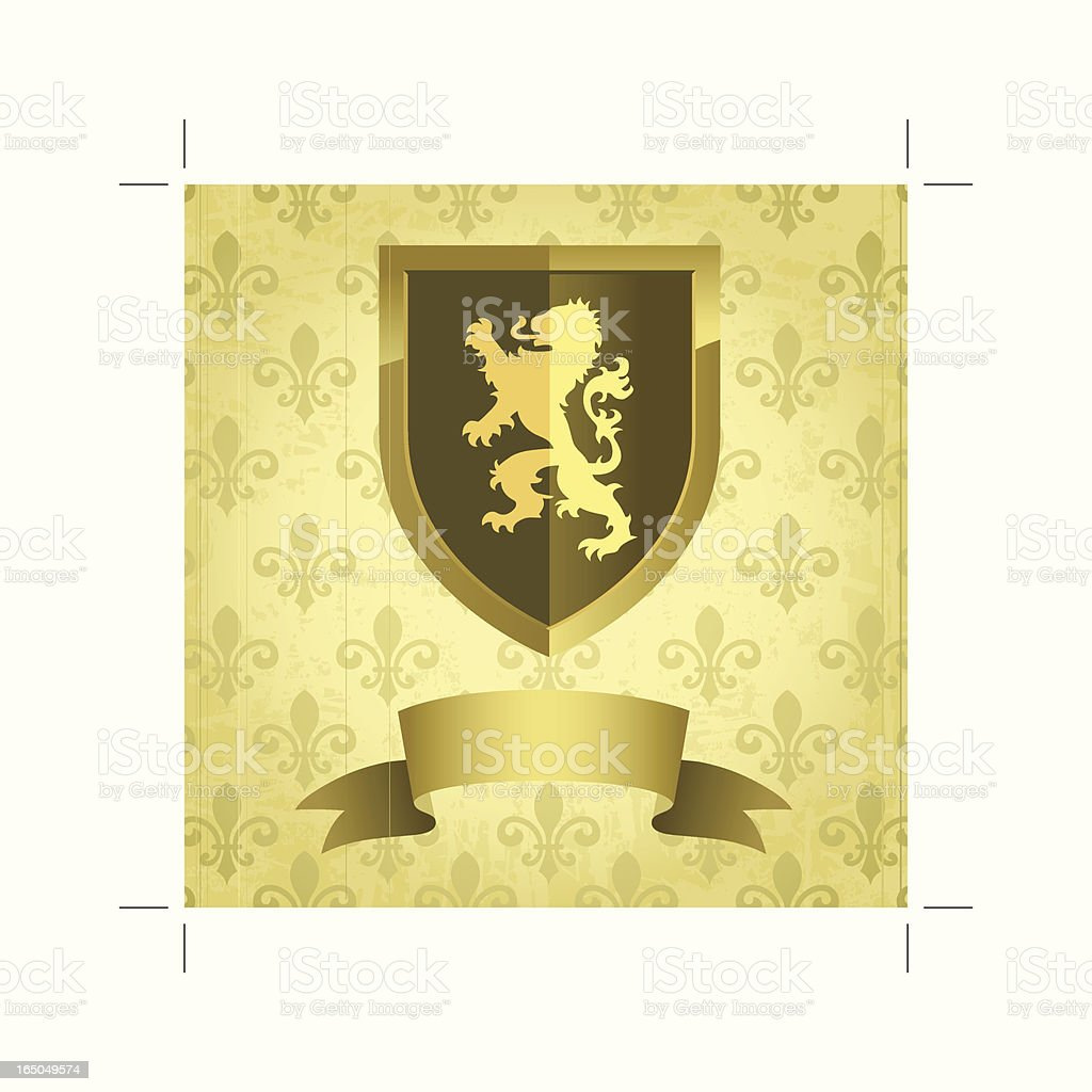 Gothic Shield royalty-free stock vector art