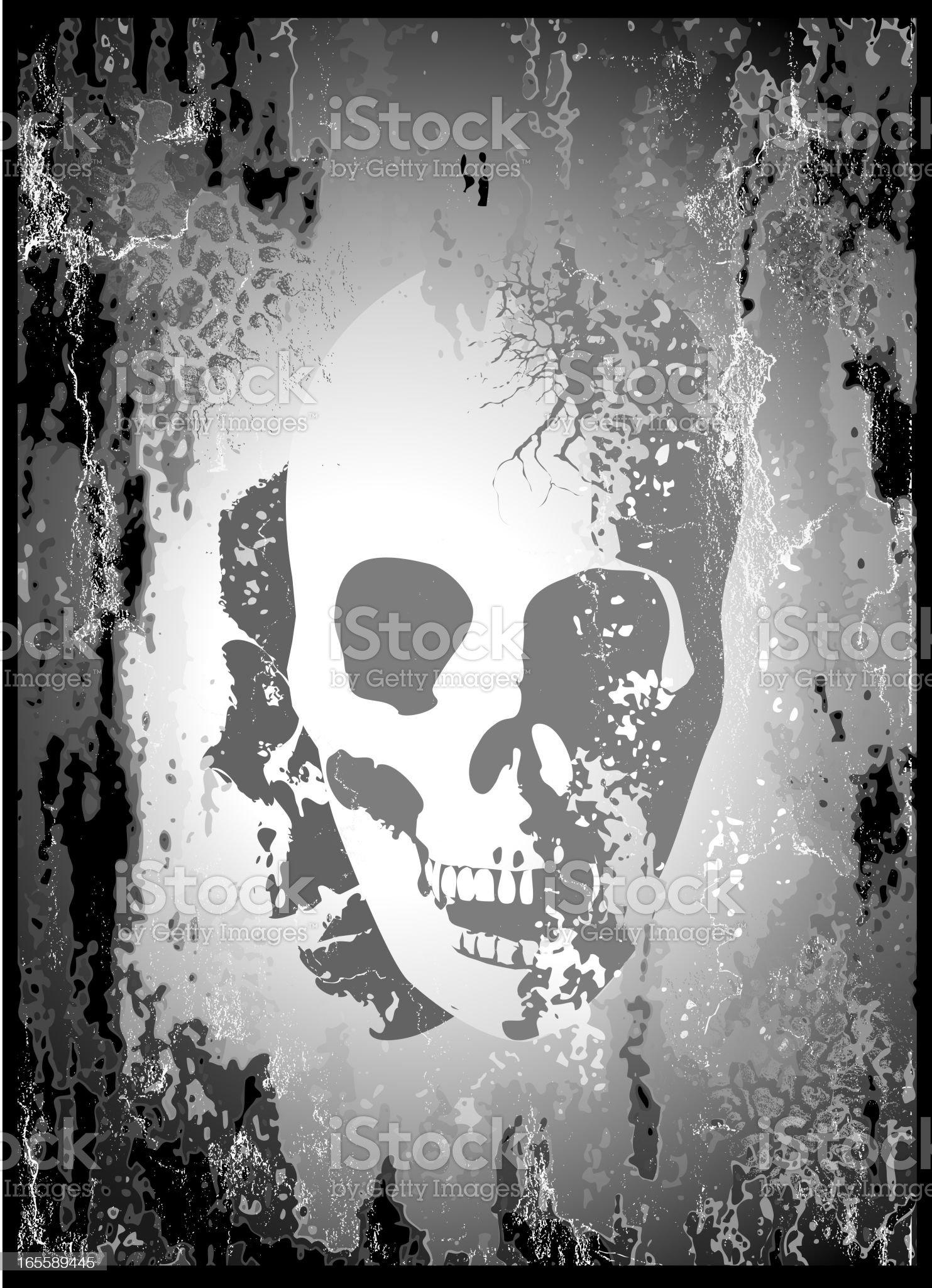 Gothic Skull royalty-free stock vector art